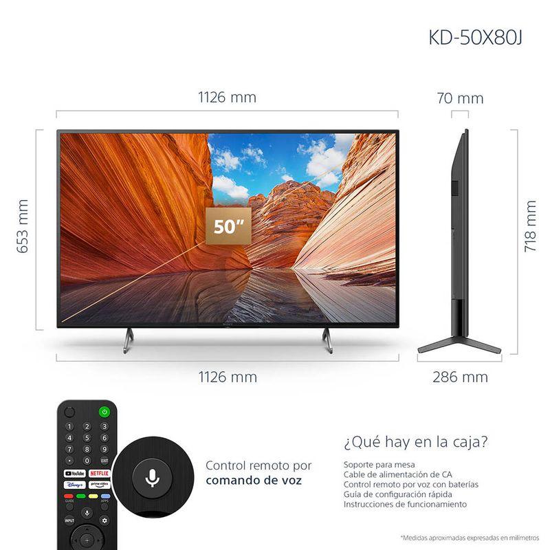 Serie_X80J_1000x1000px_50inch_02_TV_Dimension_LATAM
